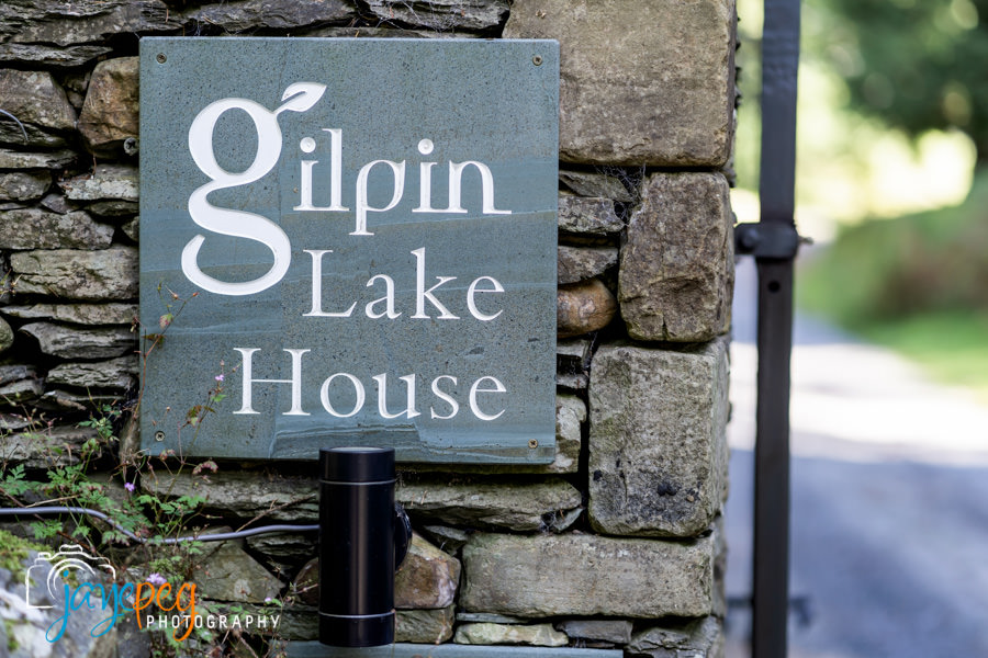 the sign for gilpin lake house