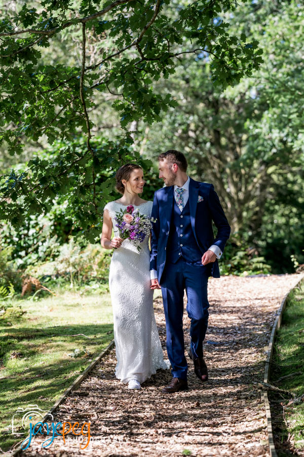 a bride and groom on their wedding day at gilpin lake house