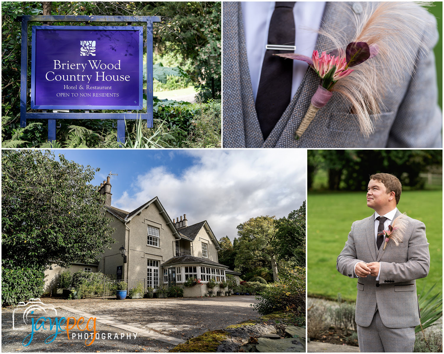 a groom waiting at briery wood country house hotel