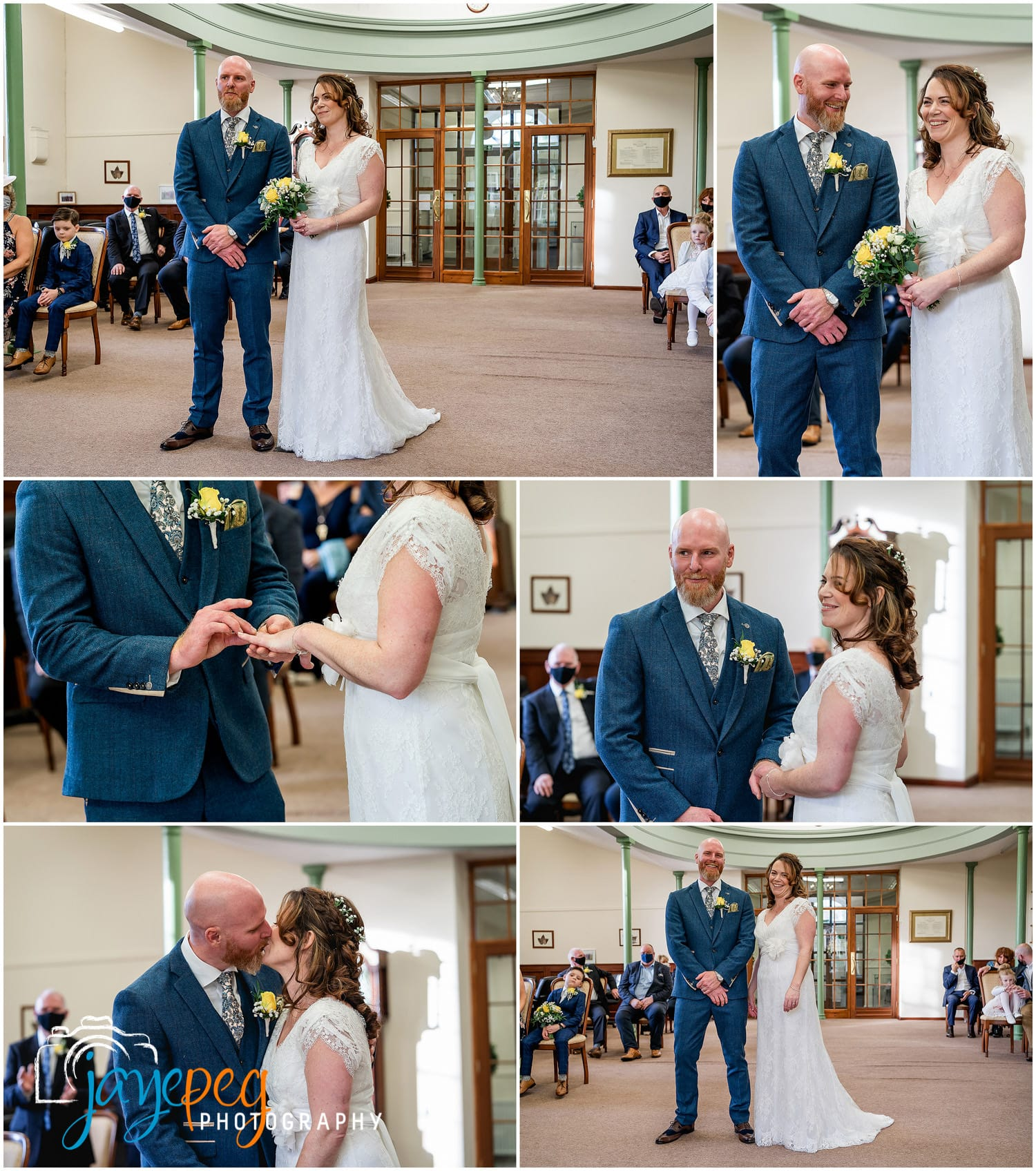 photographs of a wedding ceremony in cockermouth town hall