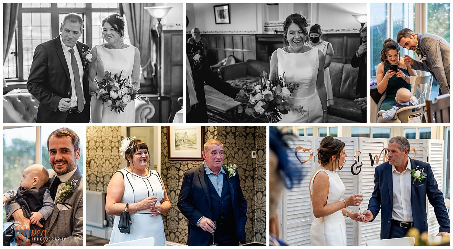 a drinks reception afetr a wedding ceremony at broadoaks country house hotel